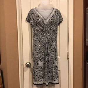 Black and off-white dress. Chico's sz 2=L/12